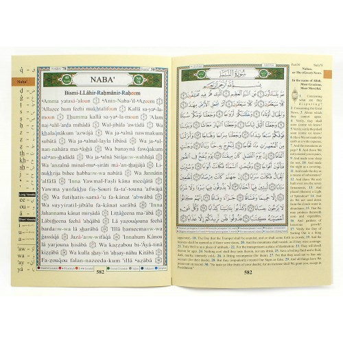 Tajweed Qur'an with Meaning Translation in English and Transliteration